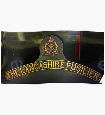 Name Plate 'The Lancashire Fusilier' Poster