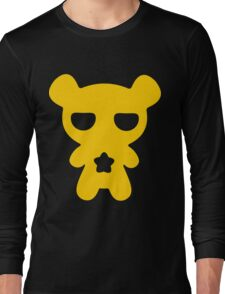 Lazy Bear Yellow Attention Long Sleeve T-Shirt