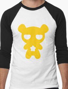 Lazy Bear Yellow Attention Men's Baseball ¾ T-Shirt