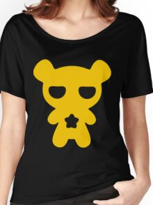 Lazy Bear Yellow Attention Women's Relaxed Fit T-Shirt