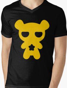 Lazy Bear Yellow Attention Mens V-Neck T-Shirt