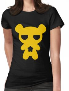 Lazy Bear Yellow Attention Womens Fitted T-Shirt