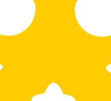 Lazy Bear Yellow Attention Sticker