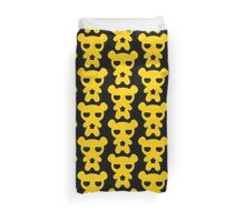 Lazy Bear Yellow Attention Duvet Cover