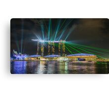Marina Bay Lasers Canvas Print
