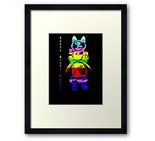 Super Rainbow Kitty ...  Framed Print