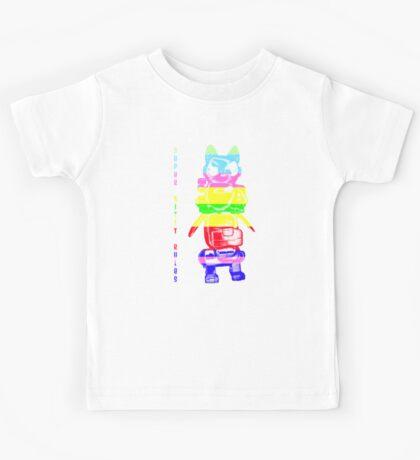 Super Rainbow Kitty ...  Kids Tee