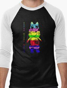 Super Rainbow Kitty ...  Men's Baseball ¾ T-Shirt