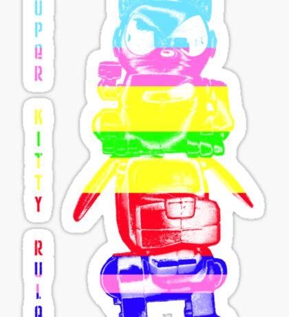 Super Rainbow Kitty ...  Sticker