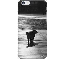 black and white silhouette iPhone Case/Skin