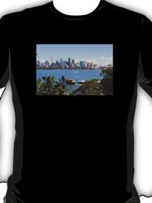 City of Sydney Skyline - Photo - Australian Harbor City T-Shirt