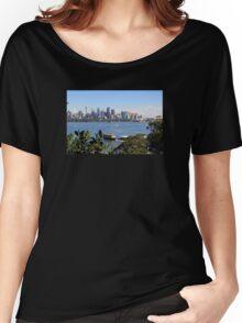 City of Sydney Skyline - Photo - Australian Harbor City Women's Relaxed Fit T-Shirt