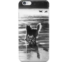 chasing after the other dogs! iPhone Case/Skin