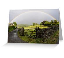 Rainbow over Near Sawrey Greeting Card