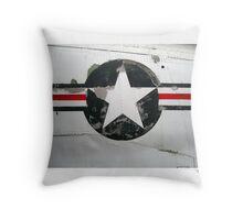 USAF insignia on A4D Skyhawk Throw Pillow