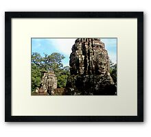 The Faces of Bayon - Angkor, Cambodia.  Framed Print