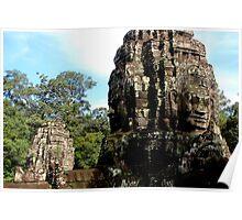 The Faces of Bayon - Angkor, Cambodia.  Poster