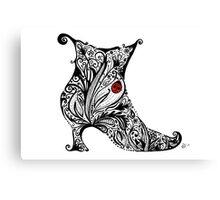 Vintage Boot Doodle Canvas Print