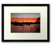 Sunset Over Zurich Framed Print