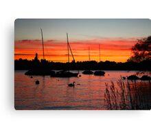Sunset Over Zurich Canvas Print