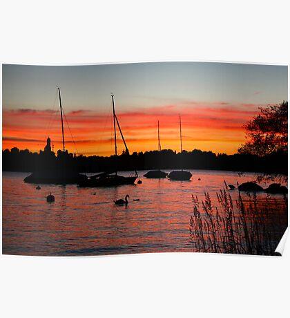 Sunset Over Zurich Poster