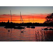 Sunset Over Zurich Photographic Print