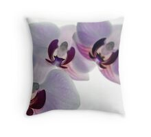 Orchid Sighting Throw Pillow