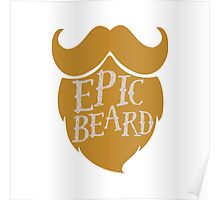 Epic beard blond Poster