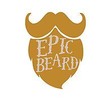Epic beard blond Photographic Print