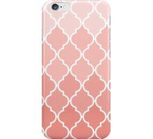 Vintage coral white classic Quatrefoil Pattern  iPhone Case/Skin