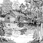 Mabry&#x27;s Mill (Pen&amp;Ink) by BobHenry