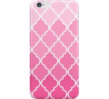 Girly Pink vintage classic Quatrefoil Pattern iPhone Case/Skin