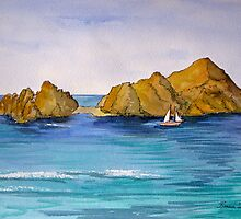 Sailing Past Lover's Beach in Cabo San Lucas, Mexico by BonnieSue