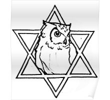 The owl of wisdom Poster