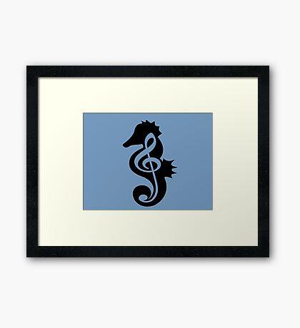 Anatomy Of Seahorse Framed Print