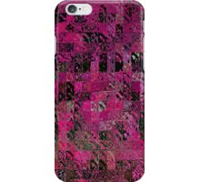 Pink Abstract Blocks iPhone Case/Skin