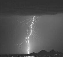 Lightning Strikes North Scottsdale. by Bo Insogna