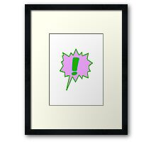 EXCLAMATION MARK SCREAMER BANG, Framed Print