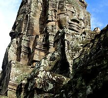 The Faces of Bayon II - Angkor, Cambodia.  by Tiffany Lenoir