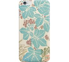 Shabby chic vintage teal brown floral pattern  iPhone Case/Skin
