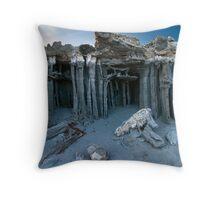 Mono Lake Sand Tufa Throw Pillow