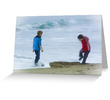 Erased by Poseidon Greeting Card