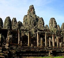 The Bayon Temple - Angkor, Cambodia.  by Tiffany Lenoir