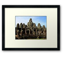 The Bayon Temple - Angkor, Cambodia.  Framed Print