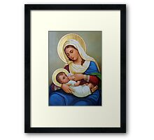 A Painting at Milk Grotto Framed Print