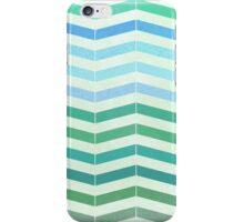 Vintage green pastel colors chevron pattern iPhone Case/Skin