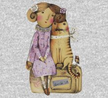 Girl and Cat Kids Clothes