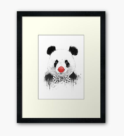Clown panda Framed Print