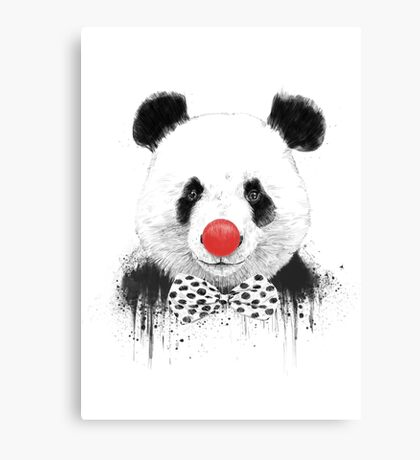 Clown panda Canvas Print