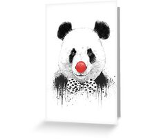 Clown panda Greeting Card
